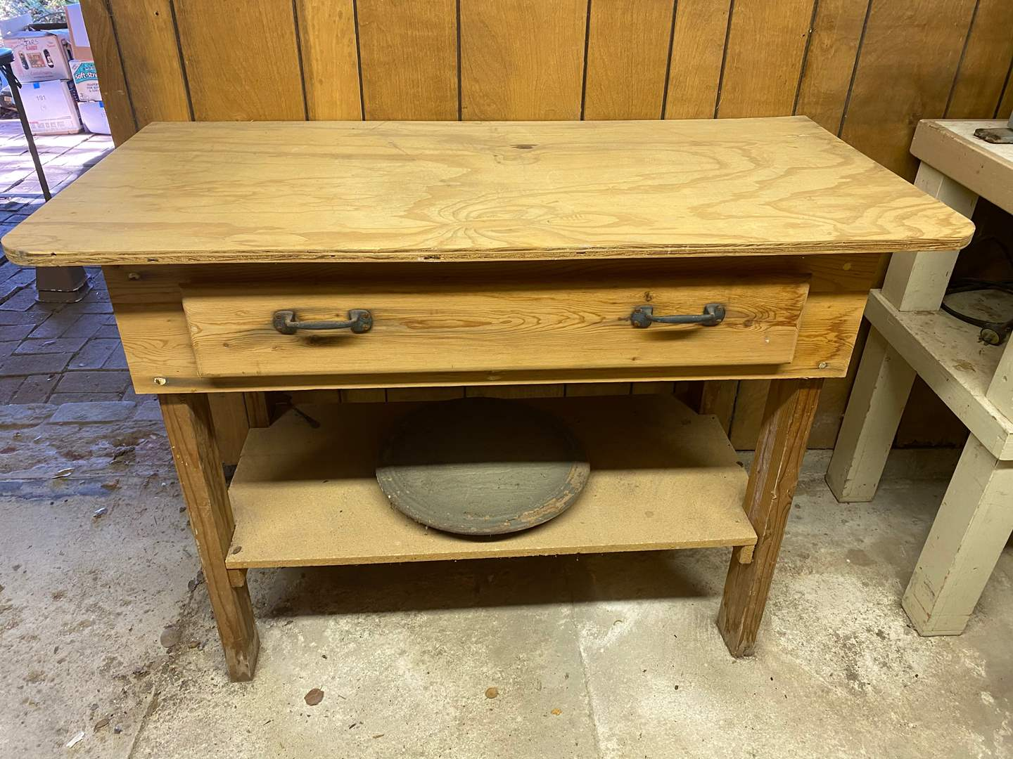 Lot # 196 - WORK BENCH W/LAZY SUSAN (main image)