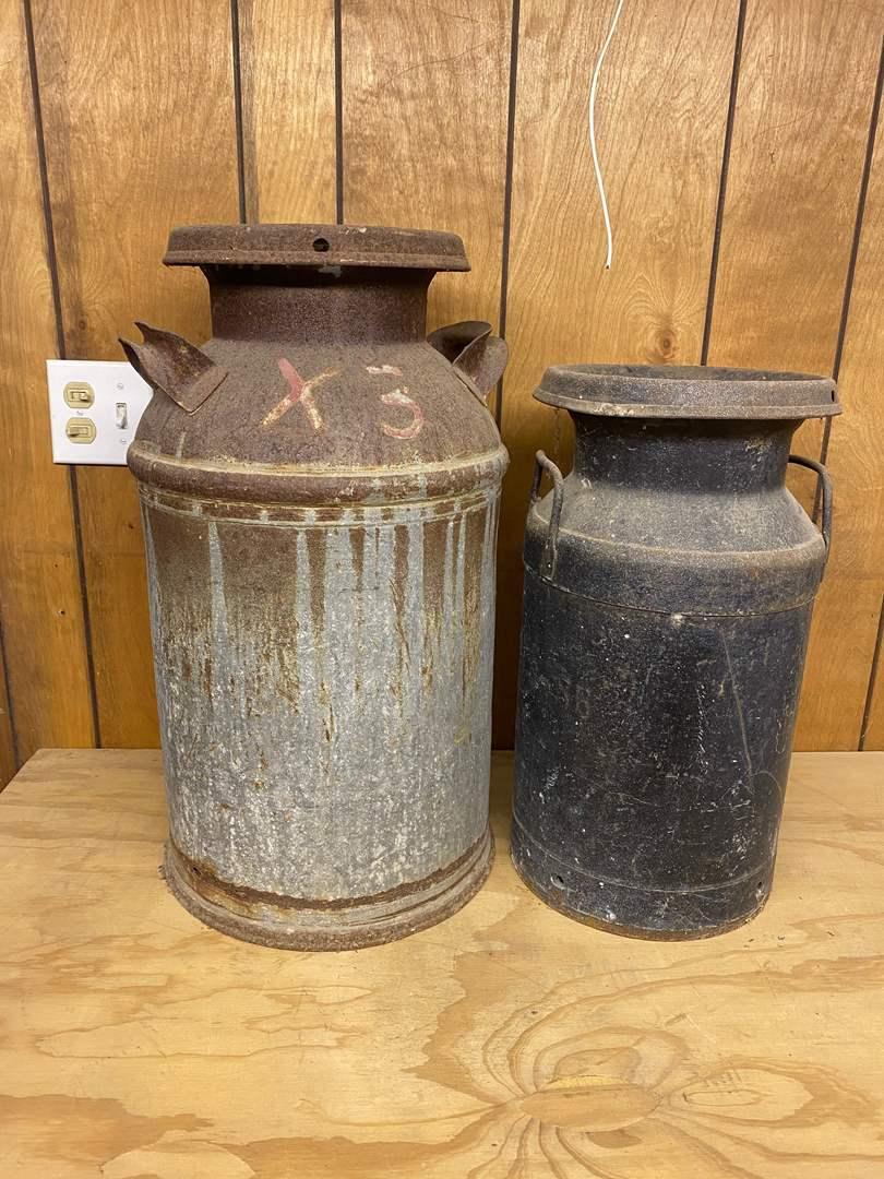 Lot # 197 - MILK CANS (main image)