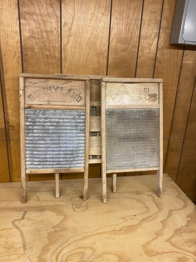 Lot # 221 - THREE WASH BOARDS (main image)