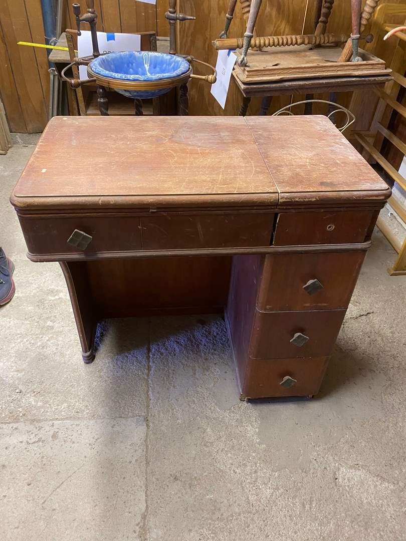 Lot # 228 - SEWING TABLE W/O MACHINE (main image)