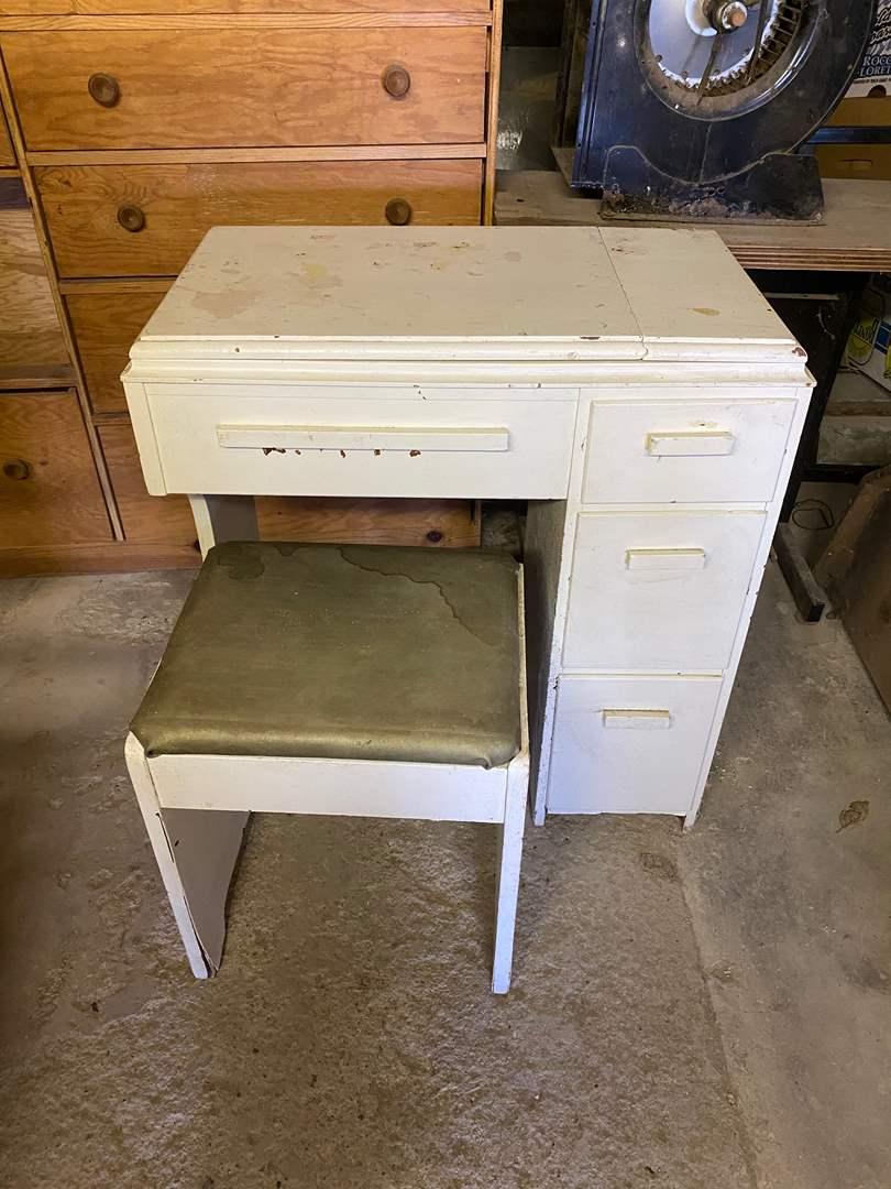 Lot # 235 -  - SEWING TABLE W/O MACHINE (main image)