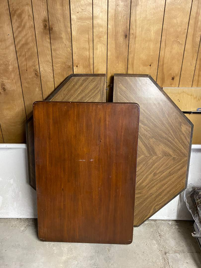 Lot # 239 - TWO TABLE TOPS W/O LEGS (main image)