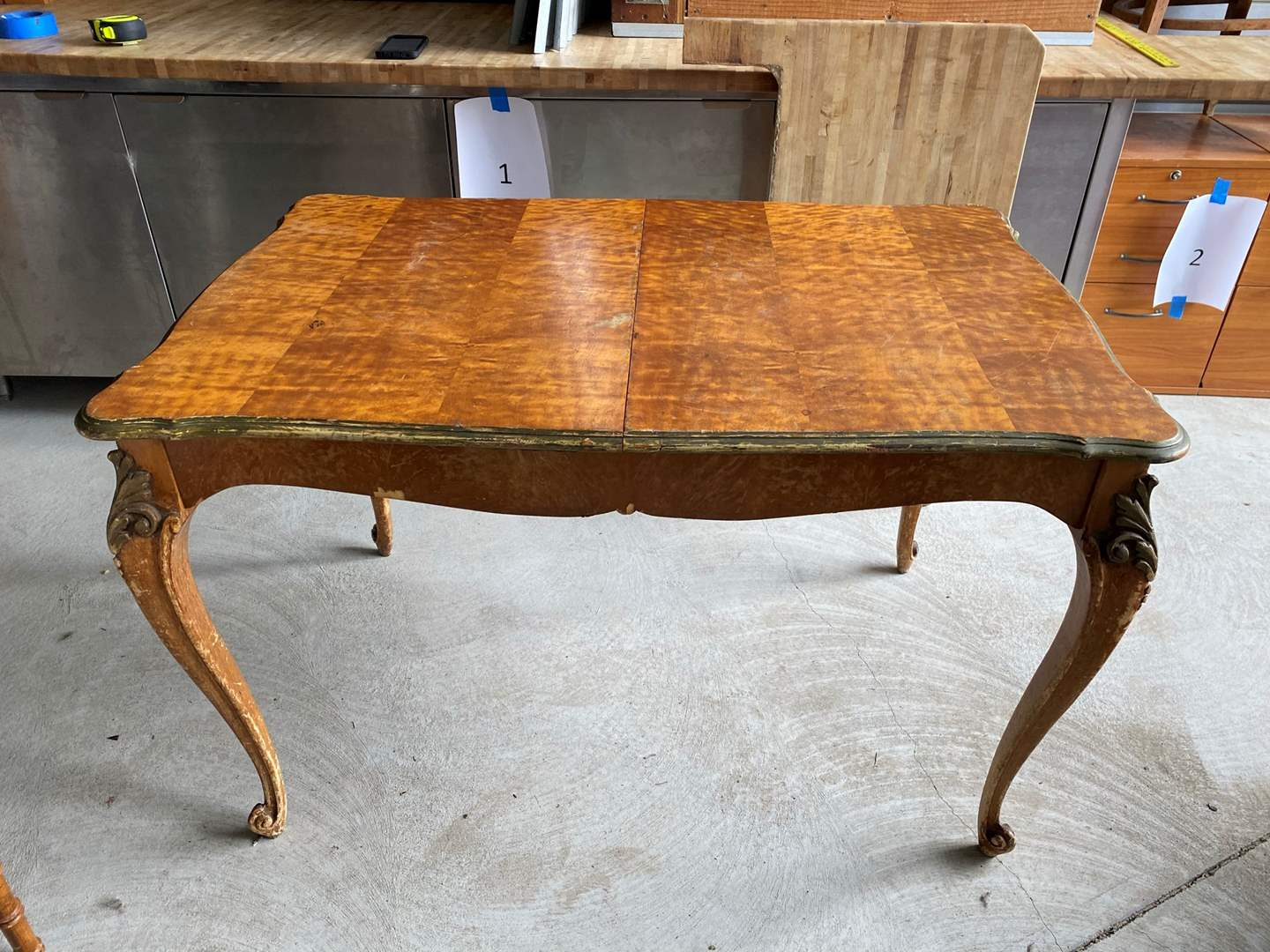 Lot# 12- Clawfoot Wood Dining Table  (main image)