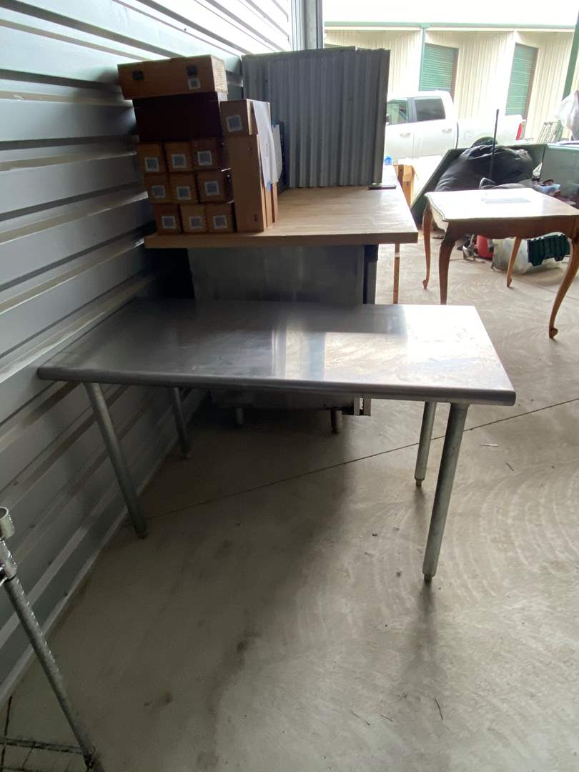 Lot# 13-  NSF Stainless Steel Prep Table (main image)