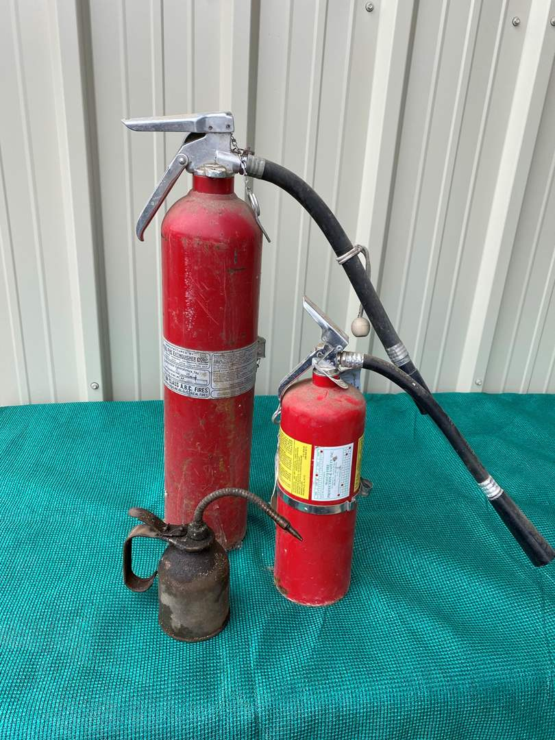 Lot# 19- Antique Oil Can/2 Fire Extinguishers (main image)