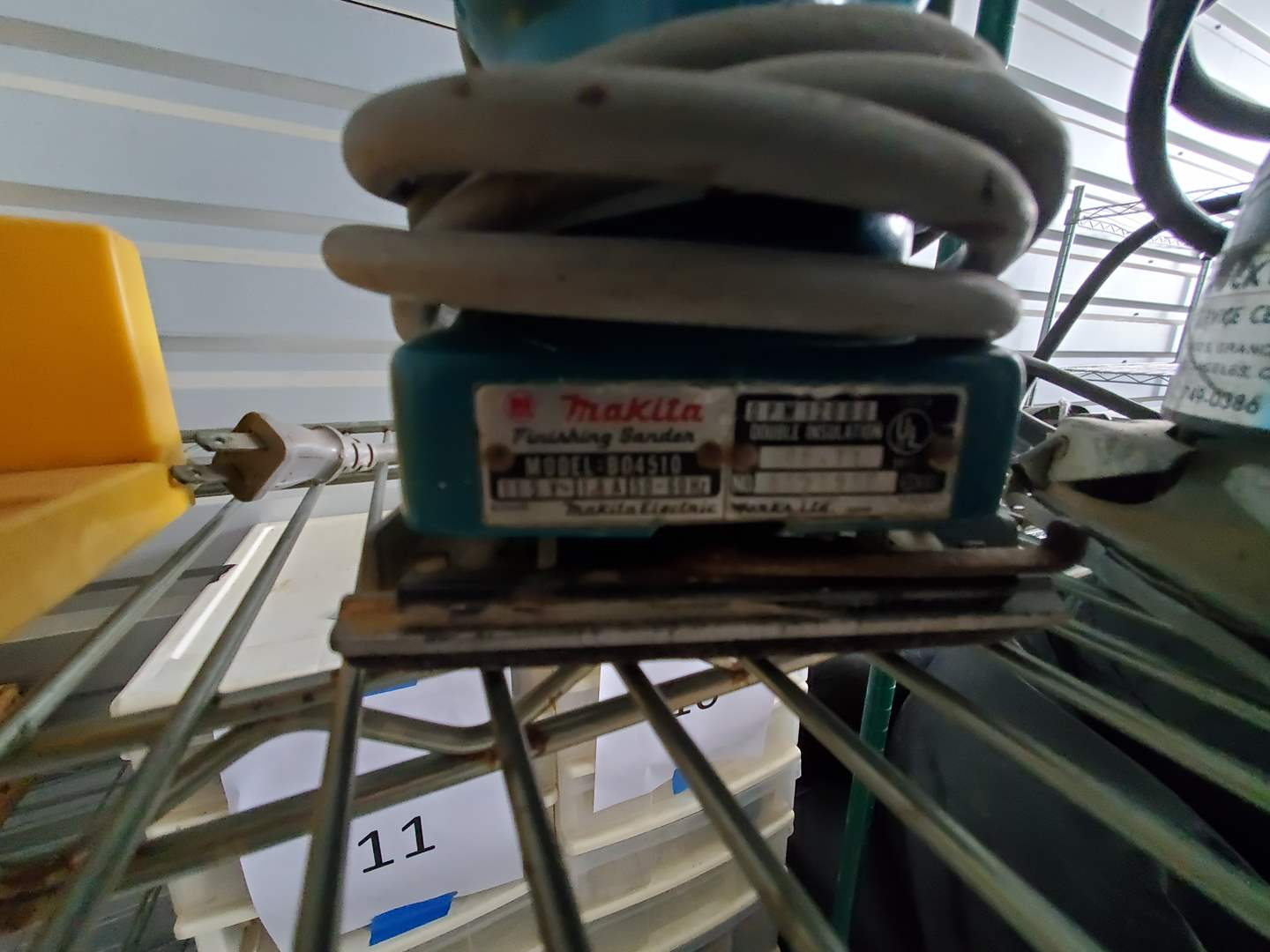 Lot# 62- Electric Sanders (Makita, Rockwell, Krafttech)(rack not included) (main image)