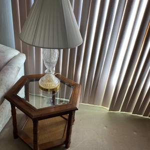 Lot # 20 - TWO END TABLES W/ MATCHING LAMPS