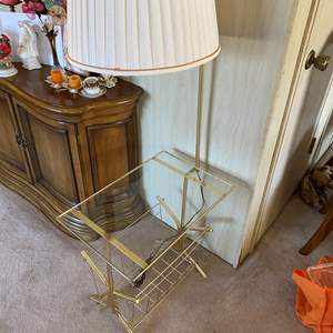 Lot # 44 - TABLE WITH ATTACHED LAMP