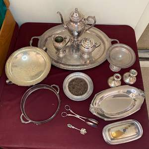 Lot # 72 - SILVERPLATE ITEMS AND SOME STERLING