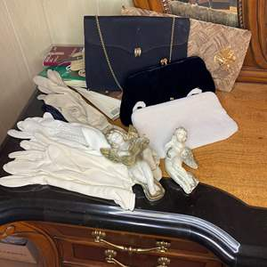 Lot # 83 - VINTAGE PURSES, GLOVES AND STOCKINGS
