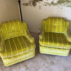 Lot # 99 - CHARTREUSE MATCHING CLUB CHAIRS