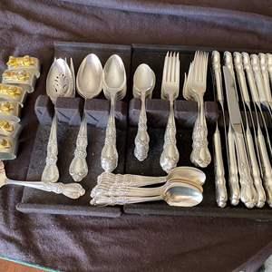 Lot # 27 - 1847 ROGERS SILVER-PLATE FLATWARE SET