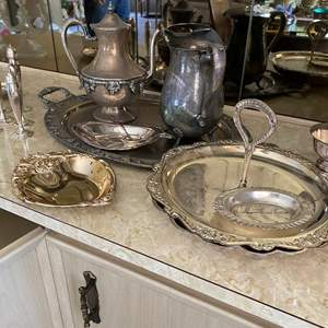Lot # 35 - SILVER-PLATE ITEMS