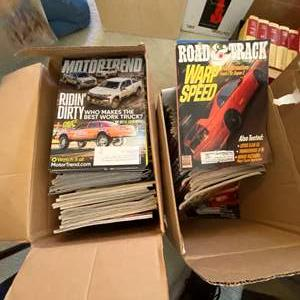 Lot # 135 - MOTOR TREND, CAR & DRIVE AND ROAD & TRACK MAGAZINES - TWO FULL BOXES