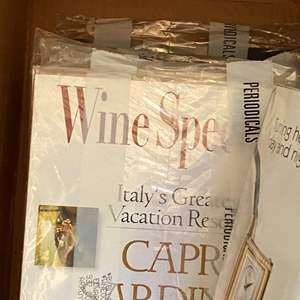 Lot # 144 - BOX FULL OF WINE MAGAZINES