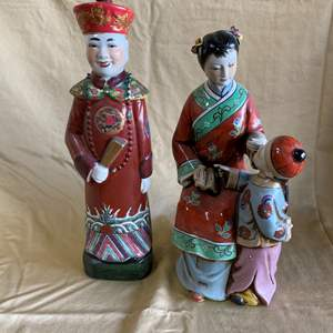 "Auction Thumbnail for: Lot # 14 - LARGE CHINESE FIGURINES 14"" TALL"