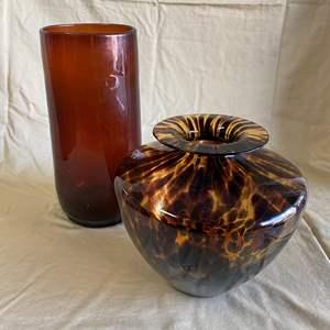 Lot # 15 - LARGE GLASS VASES