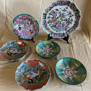 Auction Thumbnail for: Lot # 41 - JAPANESE & CHINESE PLATES AND BOWLS - VARIOUS AGES