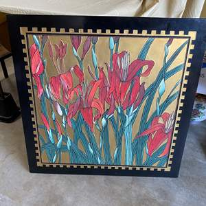 Lot # 66 - VINTAGE HAND PAINTED ASIAN ART PANEL