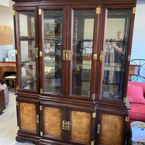 Lot # 90 - LARGE ASIAN STYLE HUTCH - BEAUTIFULLY CRAFTED