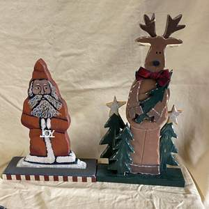 Lot # 116 - CHRISTMAS LOT 1 - TWO HAND CARVED FIGURES
