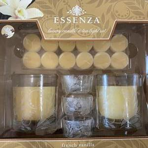 Lot # 113 - NEW IN BOX CANDLE & TEA LIGHT SET