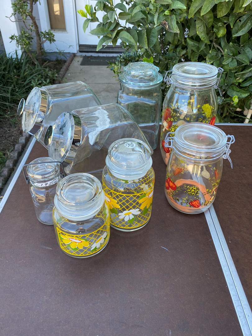 Lot # 90 - GLASS CANISTERS  (main image)