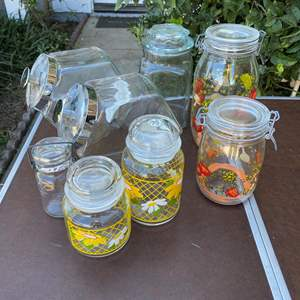Lot # 90 - GLASS CANISTERS