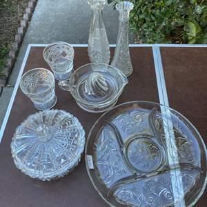 Lot # 85 - VINTAGE PRESSED GLASS