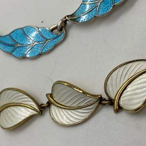 Lot # 229 - TRIFARI ENAMELED STERLING NECKLACES (77.3g)