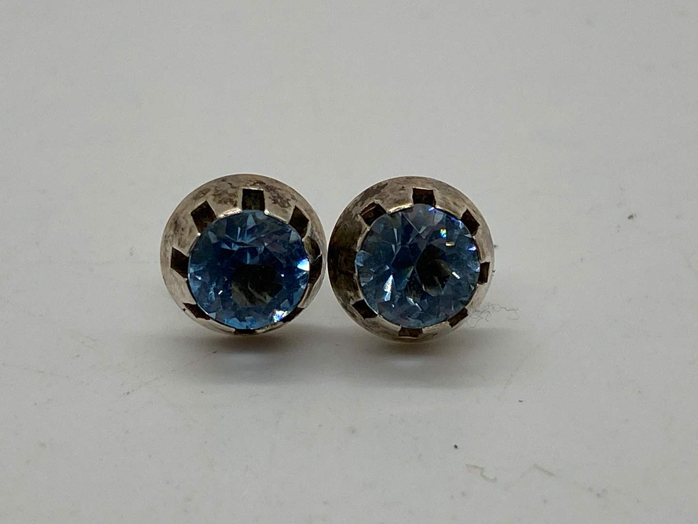 Lot # 241 - STERLING &  APPROX 1 CT TOPAZ EARRINGS (main image)