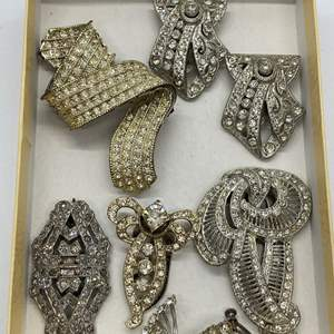 Lot # 24  - VINTAGE COSTUME JEWELRY & SHOE CLIPS