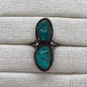 Lot # 67 - SILVER & TURQUOISE RING