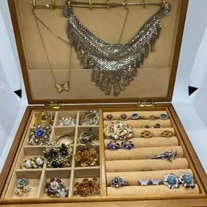Lot # 71 - JEWELRY BOX FULL OF VINTAGE JEWELRY