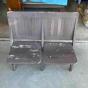 Lot # 136 - DOUBLE FOLDING BENCH SEAT