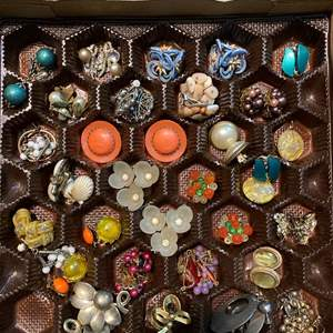 Lot # 164 - BOX FULL OF VINTAGE JEWELRY