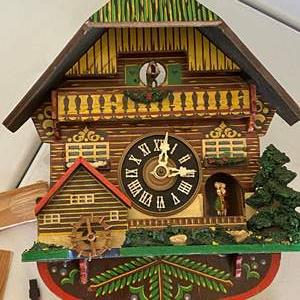 Auction Thumbnail for: Lot # 184 - W. GERMANY VINTAGE MUSICAL CUCKOO-CLOCK