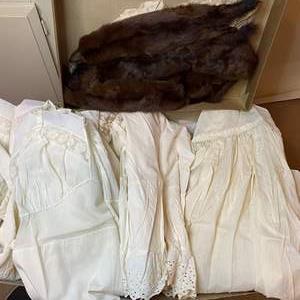 Lot # 212  - VINTAGE CLOTHING - SLIPS & MINKS