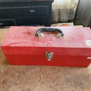 Lot # 217 - TOOL BOX WITH ELECTRICAL SUPPLIES