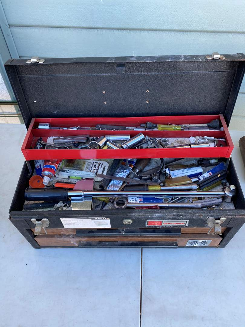 Lot # 73  - TOOL BOX WITH TOOLS (main image)