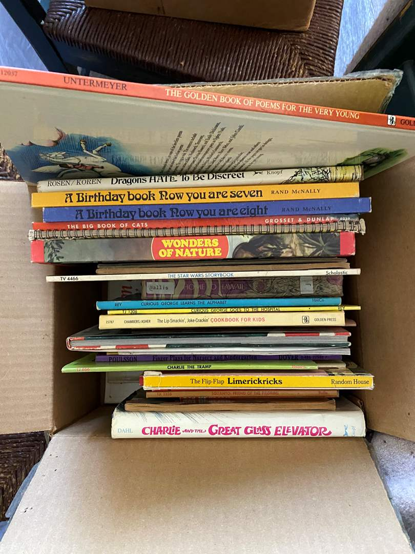 Lot # 93 - LARGE BOX OF VINTAGE CHILDREN'S BOOKS (main image)
