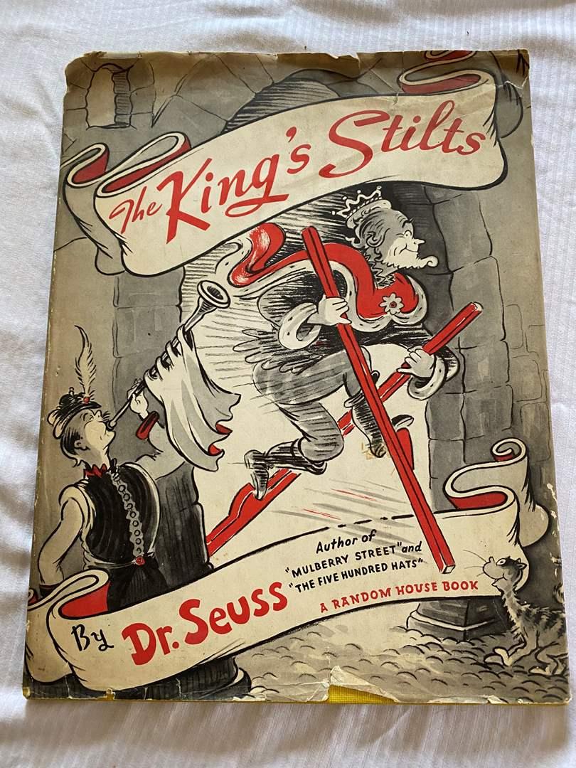 Lot # 95 - RARE DR SEUSS BOOK - 1939 THE KING'S STILTS (main image)
