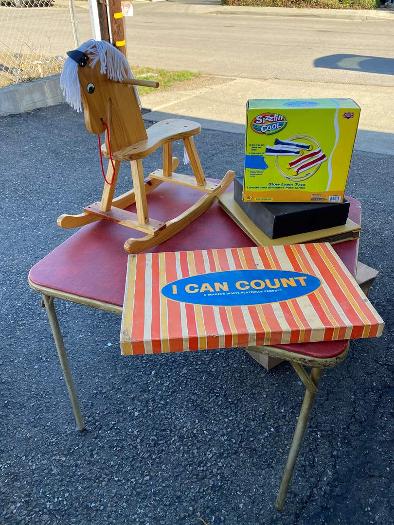 Lot # 137 - Games, Game Table & Misc items (main image)