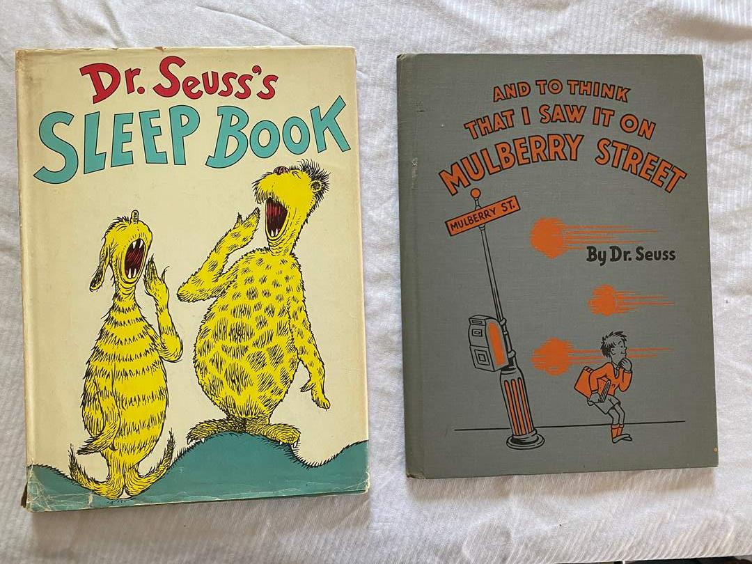 Lot # 94 - RARE DR SEUSS BOOKS - SLEEP BOOK & 1937 I THINK THAT I SAW IT ON MULBERRY ST (main image)