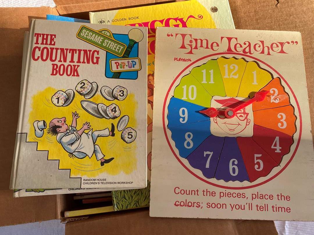 Lot # 98 - LARGE BOX OF VINTAGE CHILDREN'S BOOKS (main image)