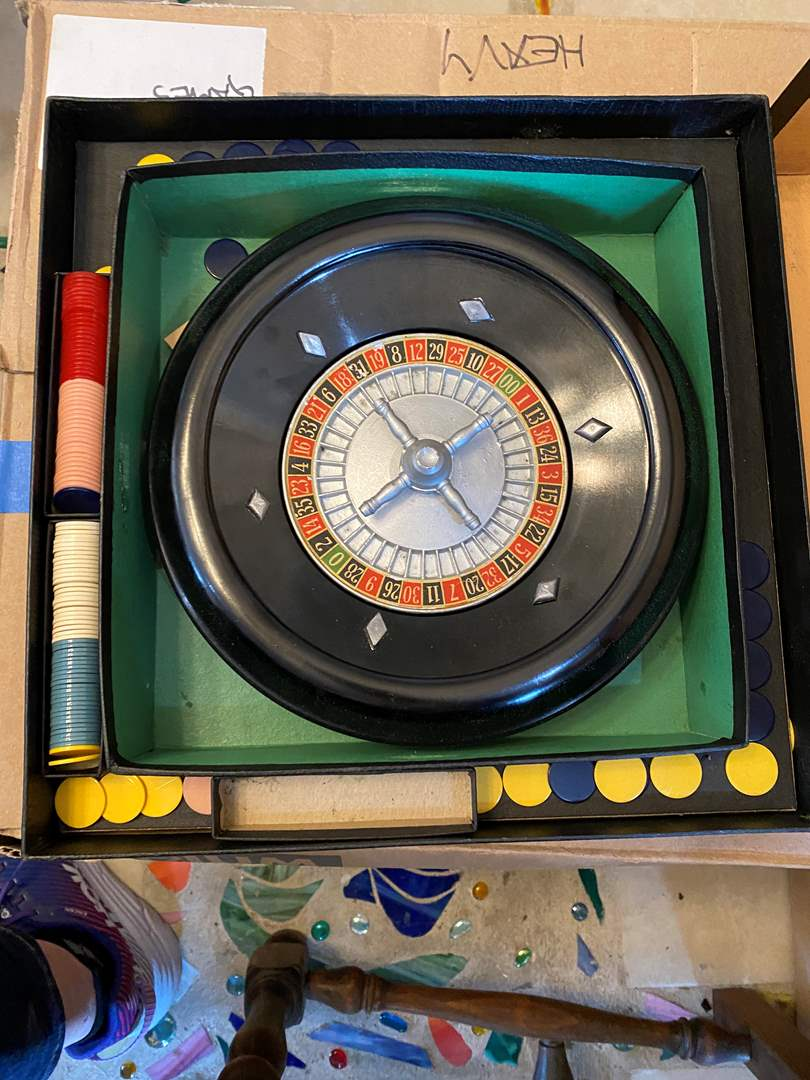Lot # 86 -  Vintage Nice Quality Roulette Wheel by Rottgames, NYC (main image)