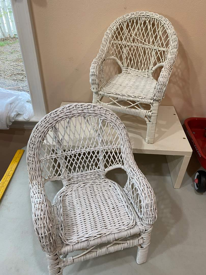 Lot # 91 - Wicker Doll Chairs (main image)