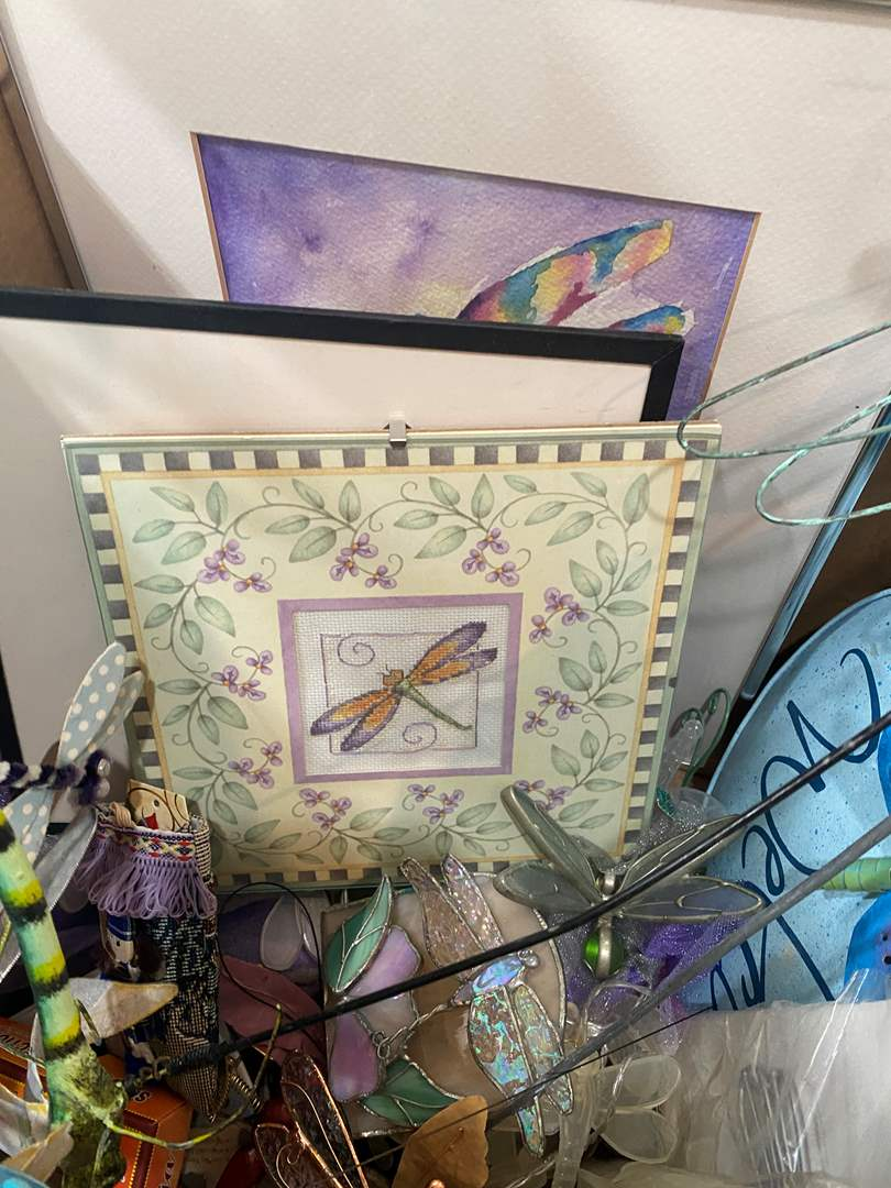 Lot # 95 - Box Full of Dragonfly Themed Items (main image)