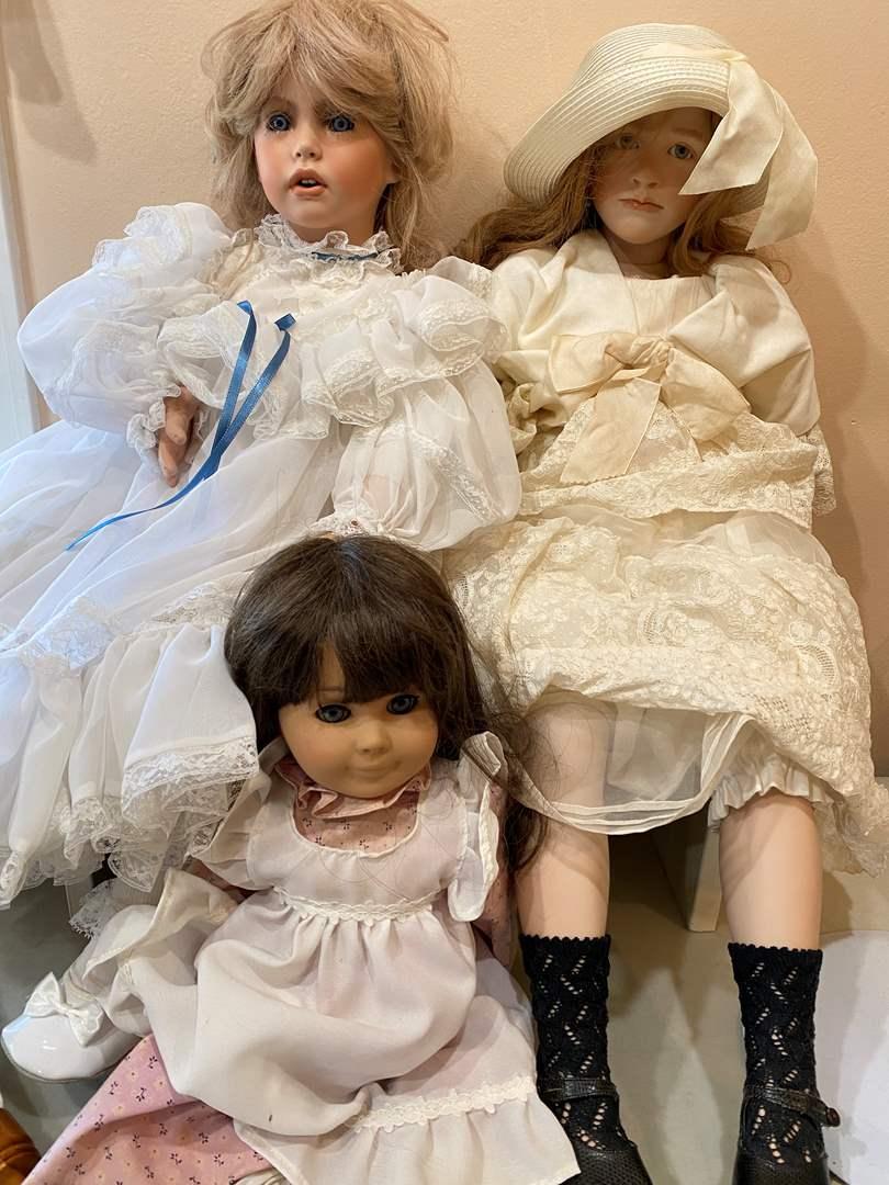 Lot # 135 - 3 Large Dolls (main image)