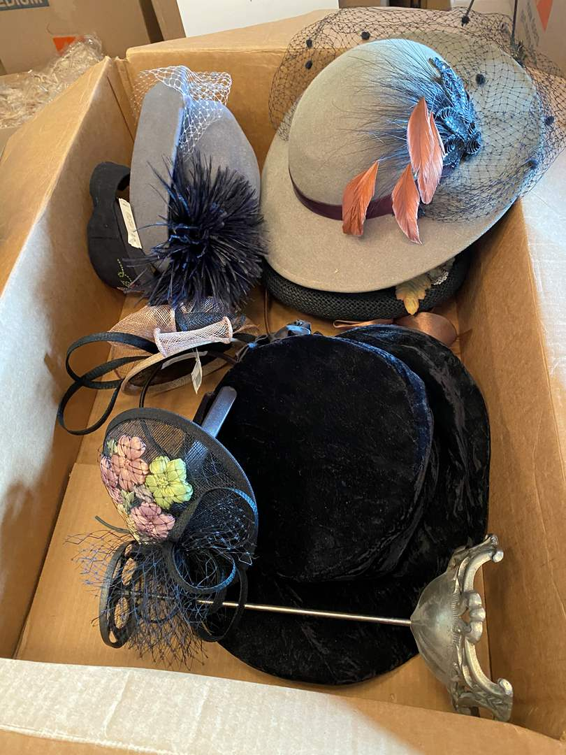 Lot # 143 - Ladies Hats & Belts (main image)
